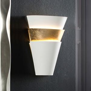 Iluminación Aplique Isis 1L Blanco/Oro